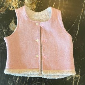 Uniqlo Rose Pink and Sherpa Vest